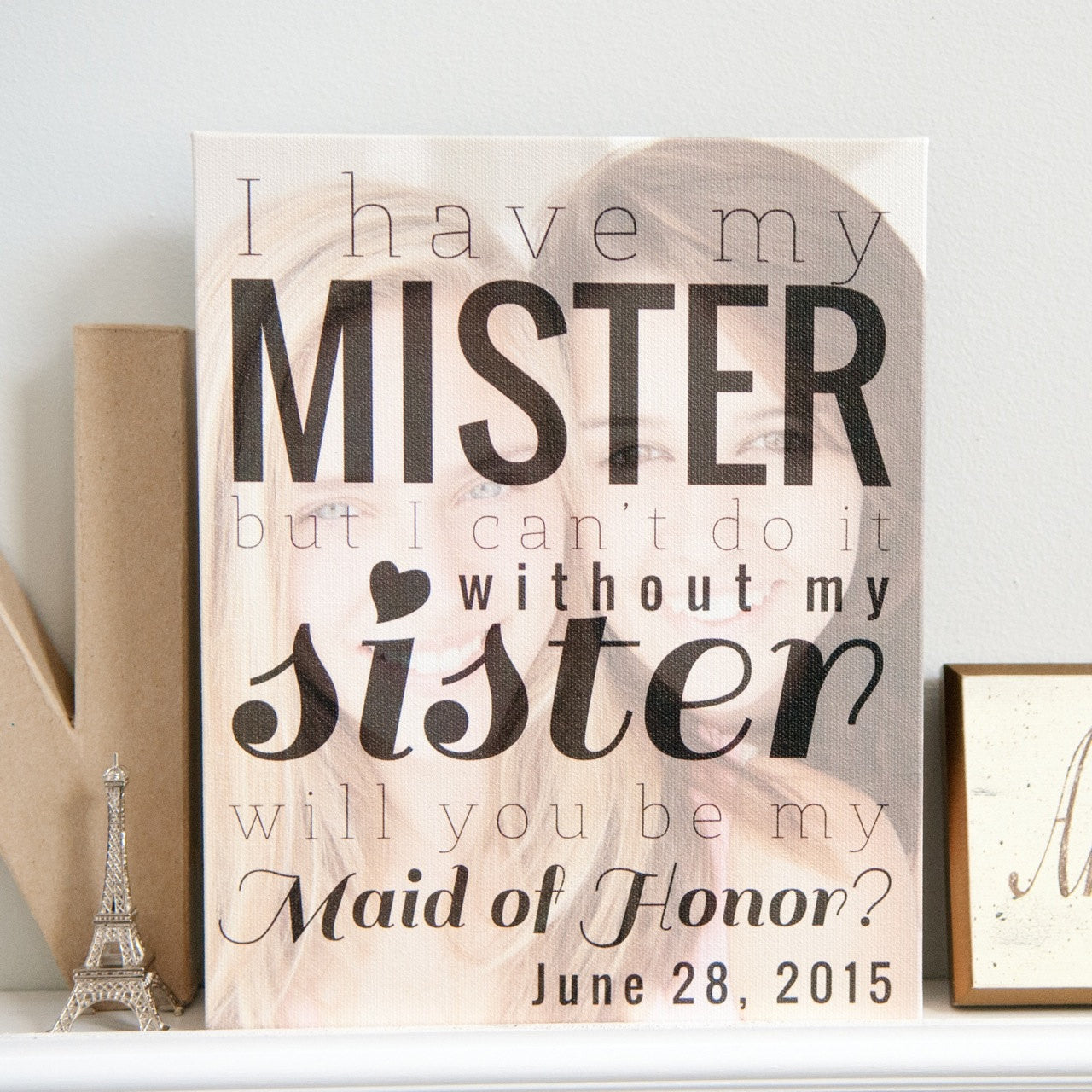 Will You Be My Maid of Honor Personalized Photo Quote