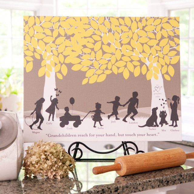 Silhouette Art Gift for Grandparents