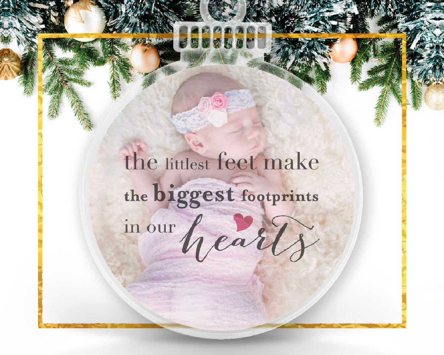 Baby Christmas Personalized Photo Ornament