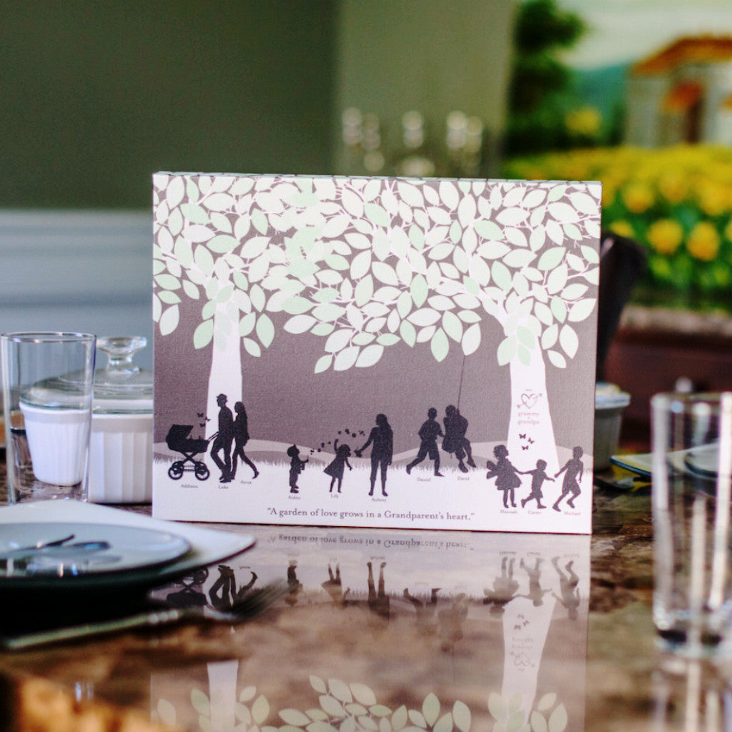 Family Tree Silhouette Print