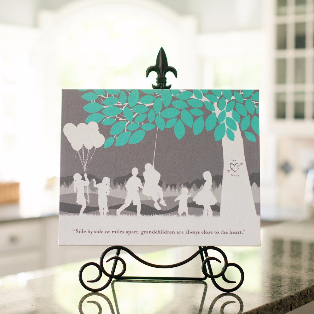 Personalized Grandparent Silhouette Print Gift
