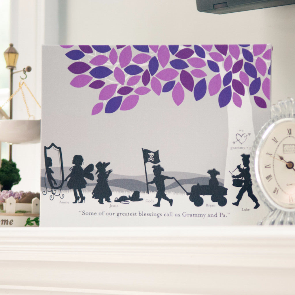 Grandparent Family Silhouette Print
