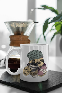 Coffee Sippin Hipster Sloth Mug.