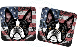 Dog Breed Distressed Flag Coasters- iStitchDezigns