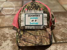 Load image into Gallery viewer, Country Women Do It Better - Embroidered Convertible Velcro Hat Patches -iStitchDezigns