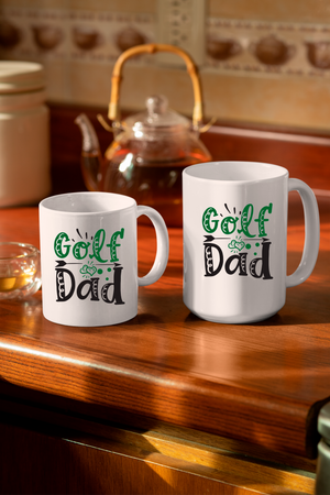 Golf Dad  11oz & 15oz Mug.