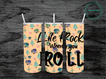 Life Rocks When You Roll RV Mat