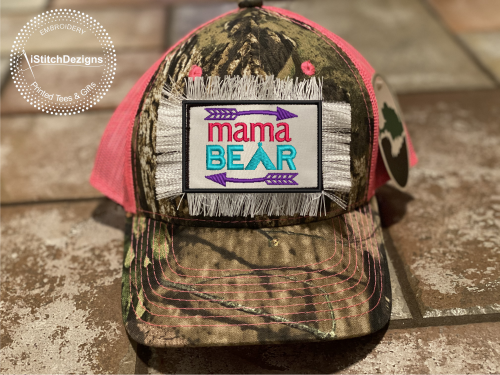 Mama Bear - Embroidered Convertible Velcro Hat Patches