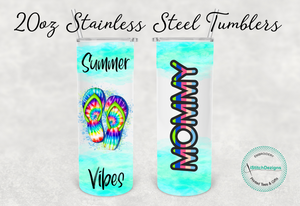 Mommy & Me Summer Vibes Tumbler Set, 20oz & 16oz Set.