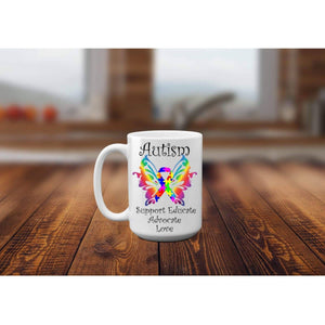 Autism Butterfly Awareness Mug. (1695569969246)