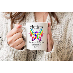 Autism Butterfly Awareness Mug.