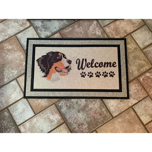 Bernese Mountain Dog Welcome Mat
