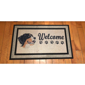 Bernese Mountain Dog Welcome Mat. (1695567380574)
