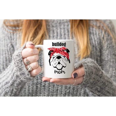 Bulldog Mom Coffee Mug.-Mugs-iStitchDezigns (1695572557918)