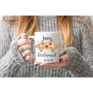 Custom Bridesmaid Coffee Mugs.