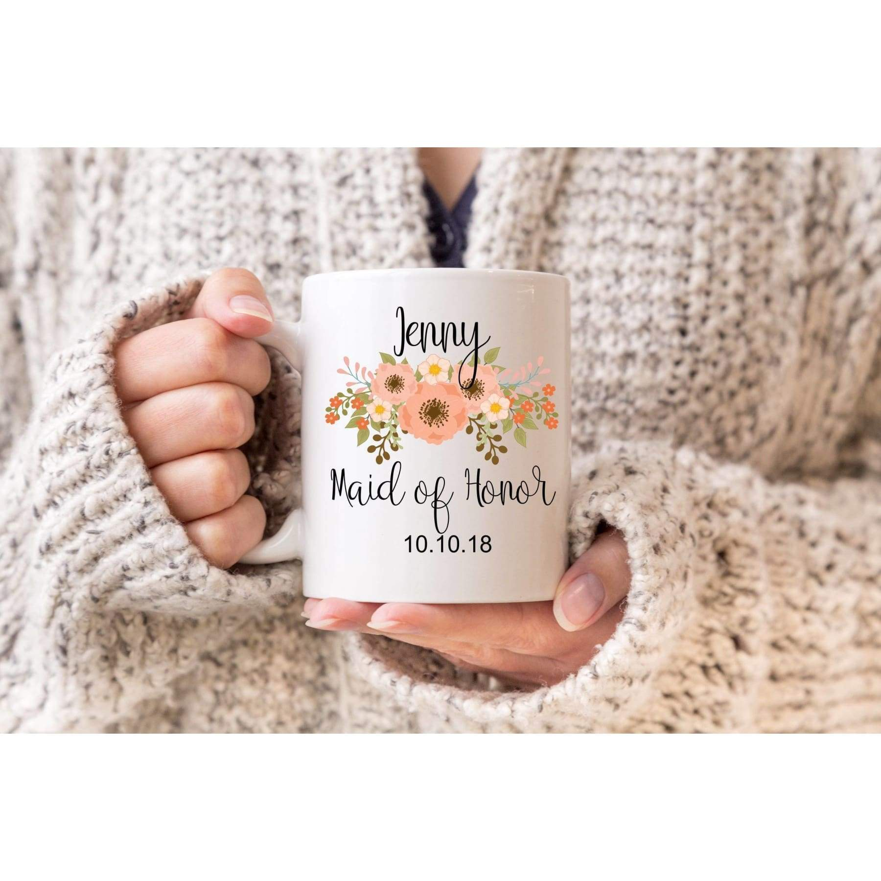 Custom Maid Of Honor Coffee Mug.