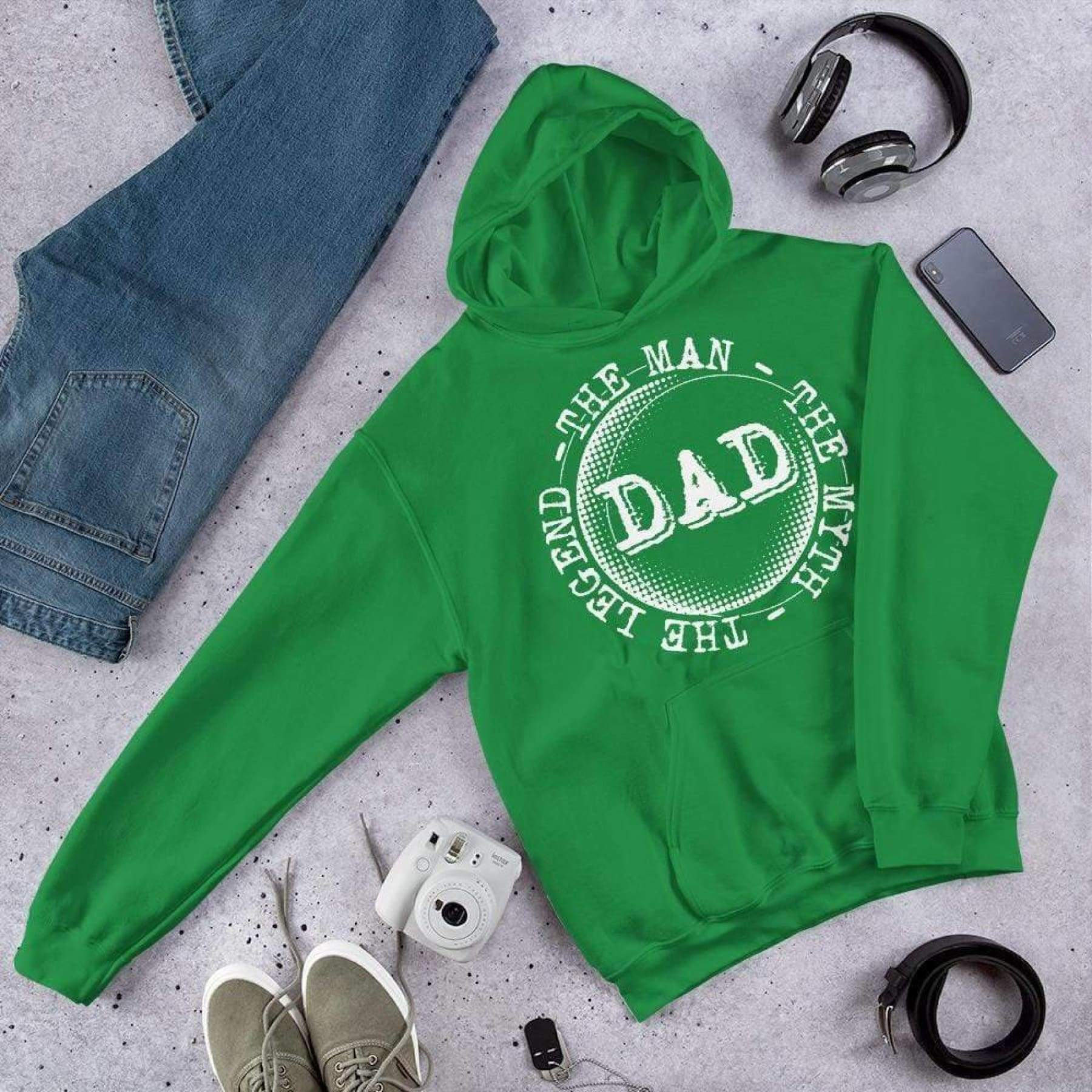 Dad - The Man The Myth The Legend Hoodie. - iStitchDezigns