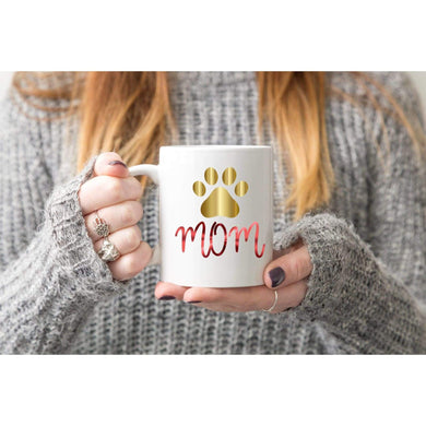 Dog Lover Mom Coffee Mug.-Mugs-iStitchDezigns (1695564824670)