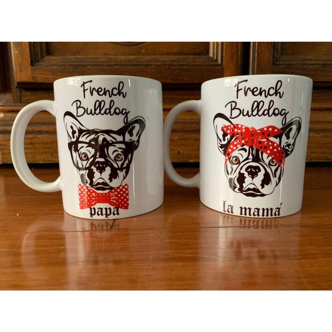 French Bulldog Mama & Papa Mugs.-Mugs-iStitchDezigns (1695572066398)