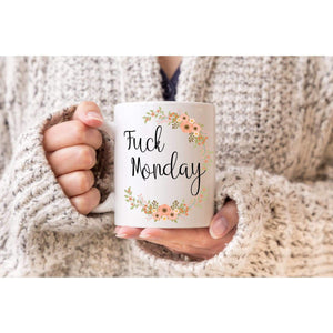 Fuck Monday Coffee Mug.-Mature Adult-iStitchDezigns (1695565840478)
