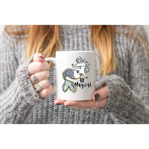 Funny Be Magical Unicorn Coffee Mug (1695569379422)