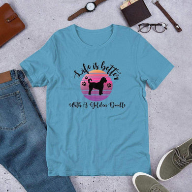 Life Is Better With A GoldenDoodle Tee. (1695566725214)