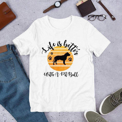 Life Is Better With A Pitbull Tee. (1695567609950)