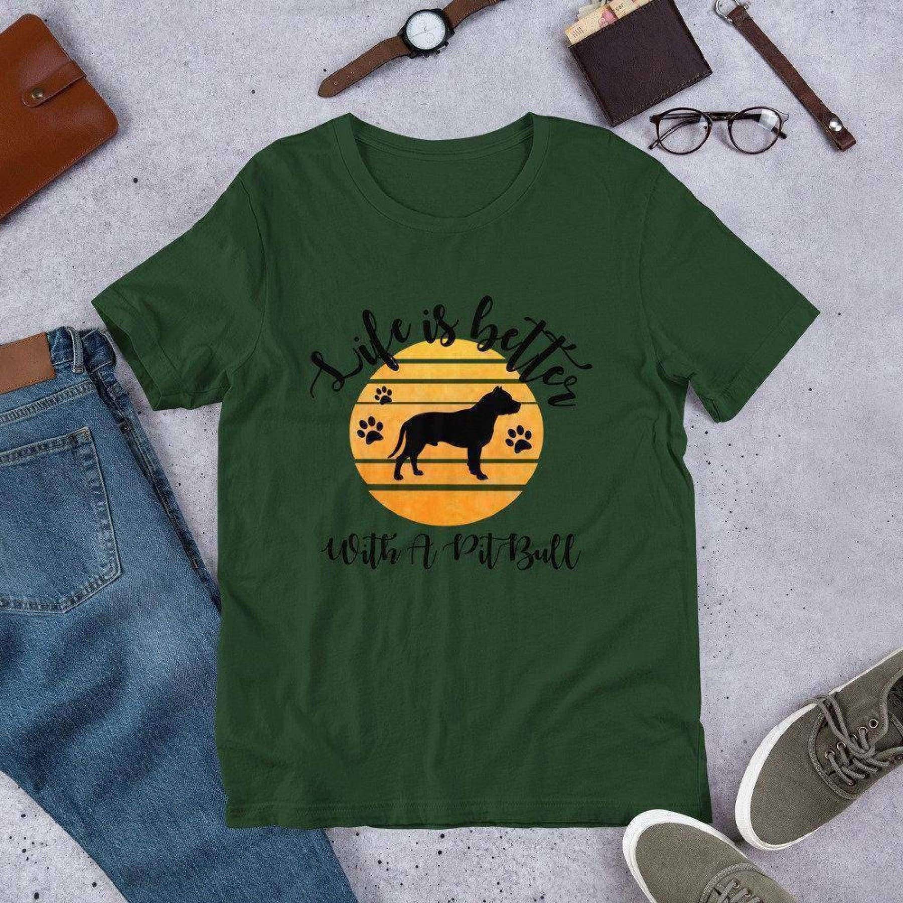 Life Is Better With A Pitbull Tee.