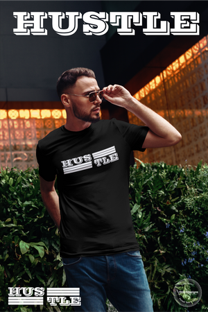 Mens Hustle Tees High Quality Premium Work Hard, Play Hard & Always Hustle tees. Show off your inner hustle with these kickass tees. iStitchDezigns.