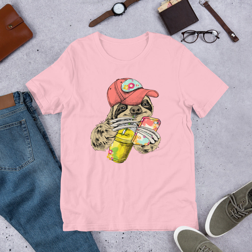 Summer Sloth with Coffee & Phone Tee.