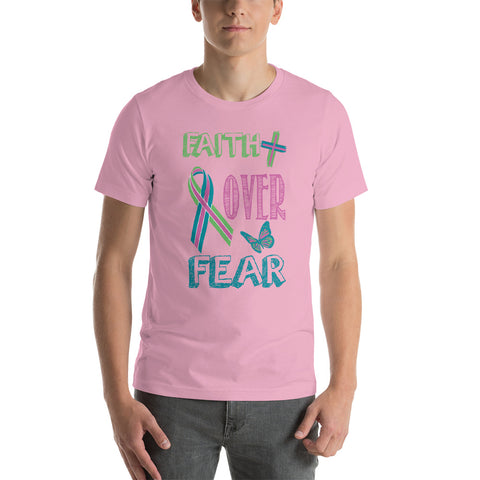 Image of Faith Over Fear - Metastatic Cancer Awareness Tee. (3950431273054)