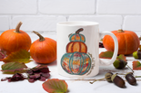 Stacked Pumpkin Fall Mug 15oz & 11oz