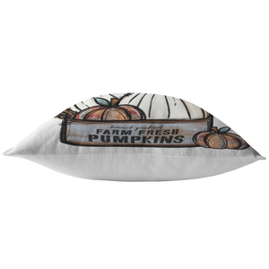 Farm Fresh Fall Pumpkin Pillow - iStitchDezigns