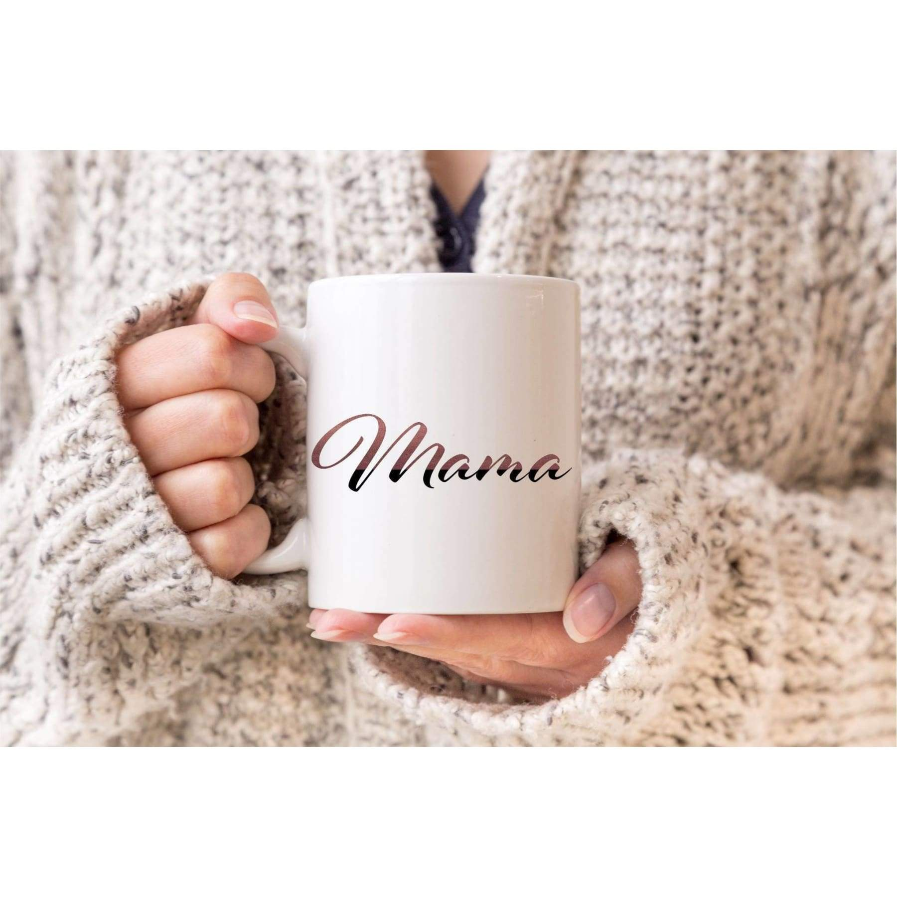 Personalized Glitter Name Mugs.