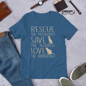 Rescue, Save & Love Tee. (3624474968158)