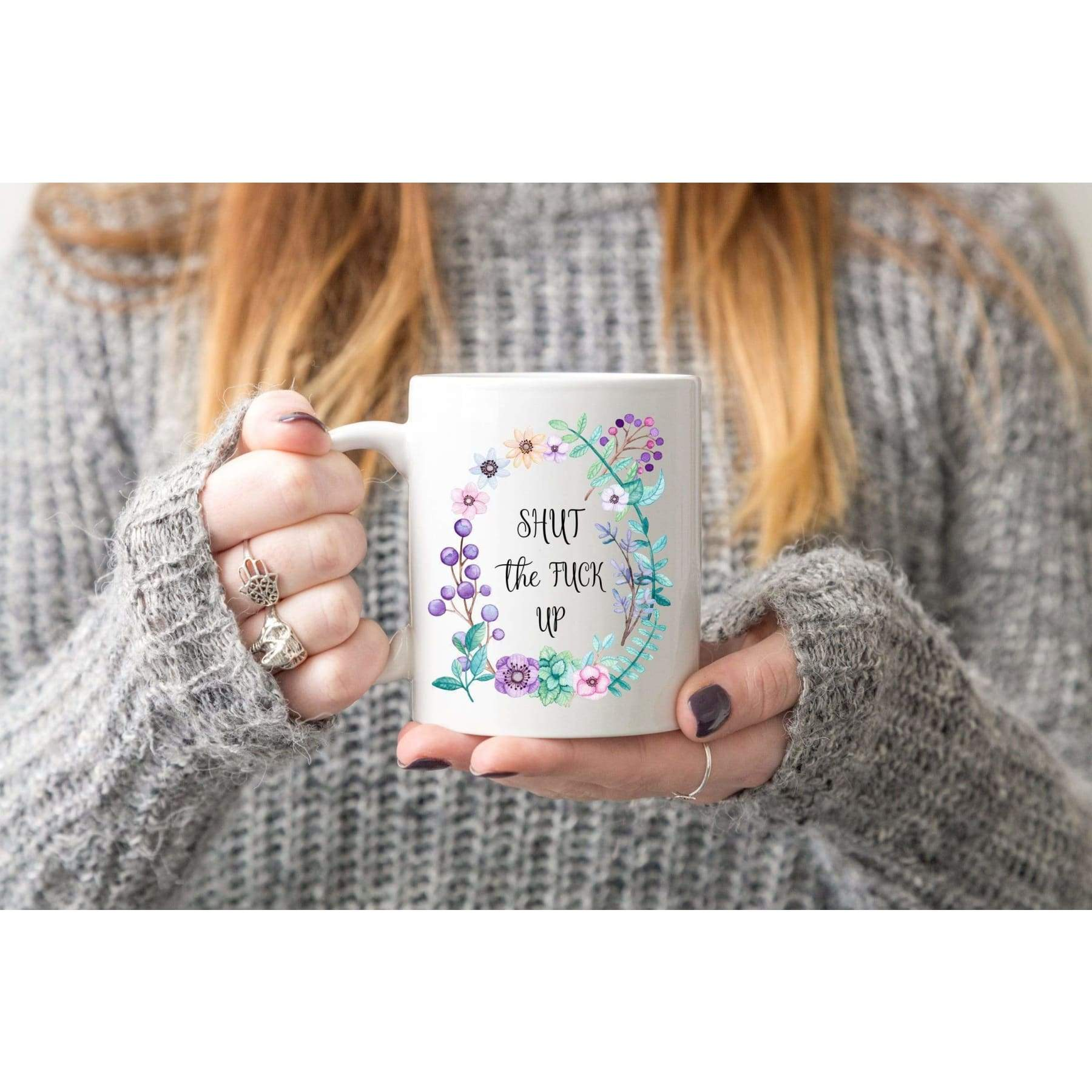 Rude Mugs - Shut The Fuck Up Coffee Mug..