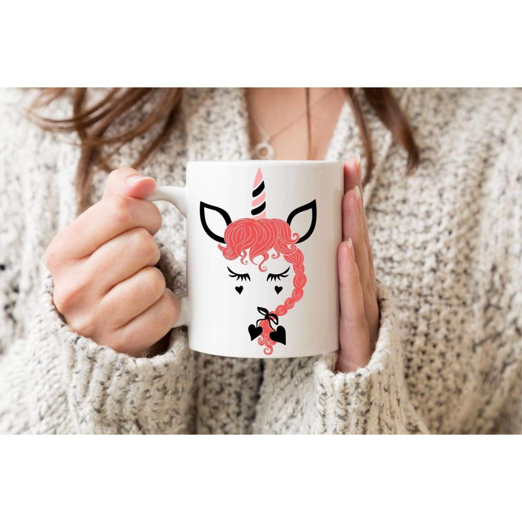 Unicorn Valentine's Day Mug.