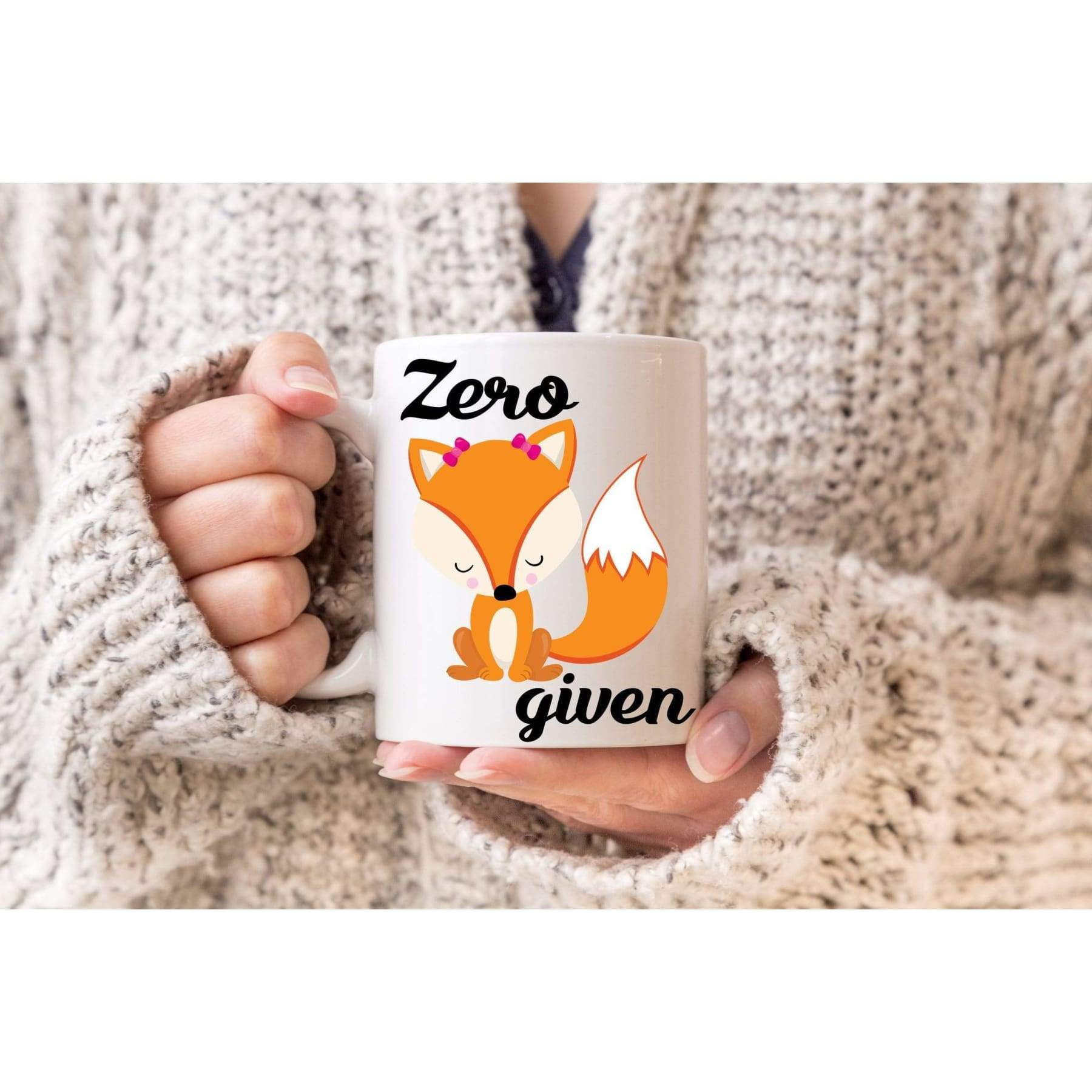 Rude Mugs - Zero Fox Given Mug.