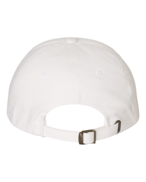 Peached Cotton Twill Dad Cap - White