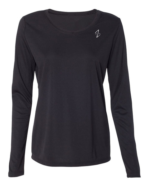 Women's Performance Long Sleeve T-Shirt-Black