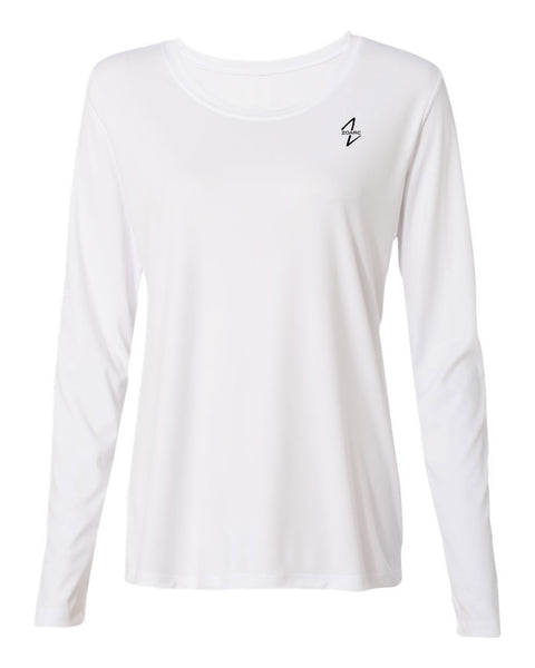 Women's Performance Long Sleeve T-Shirt-White
