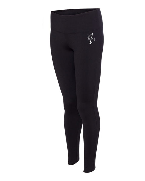 Women's Full Length Leggings-Black
