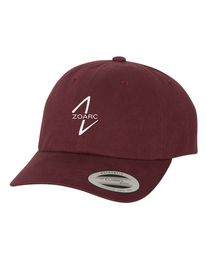 Peached Cotton Twill Dad Cap - Maroon