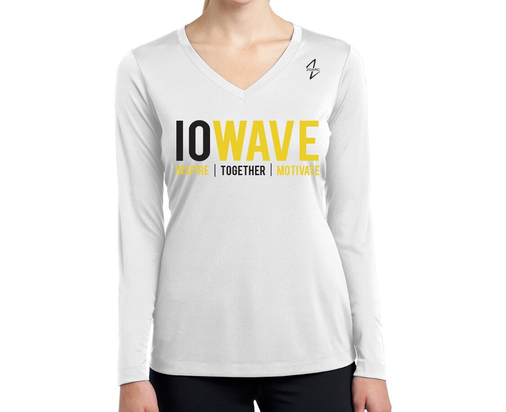 IOWAVE Women's Long Sleeve Performance Shirt-White