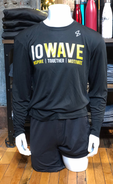 IOWAVE Men's Long Sleeve Performance Tee-Black