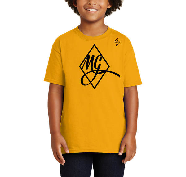 Megan Gustafson Signature Logo Youth Cotton Tee-Gold (Pre-Order)