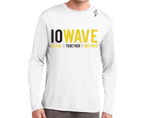 IOWAVE Men's Long Sleeve Performance Shirt-White