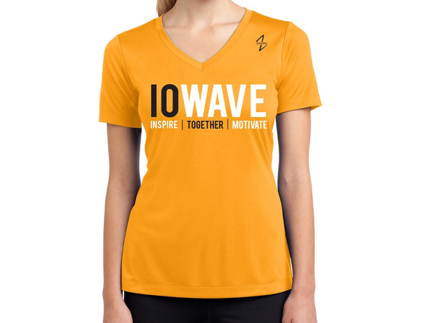 IOWAVE Women's Short Sleeve Performance Tee-Gold