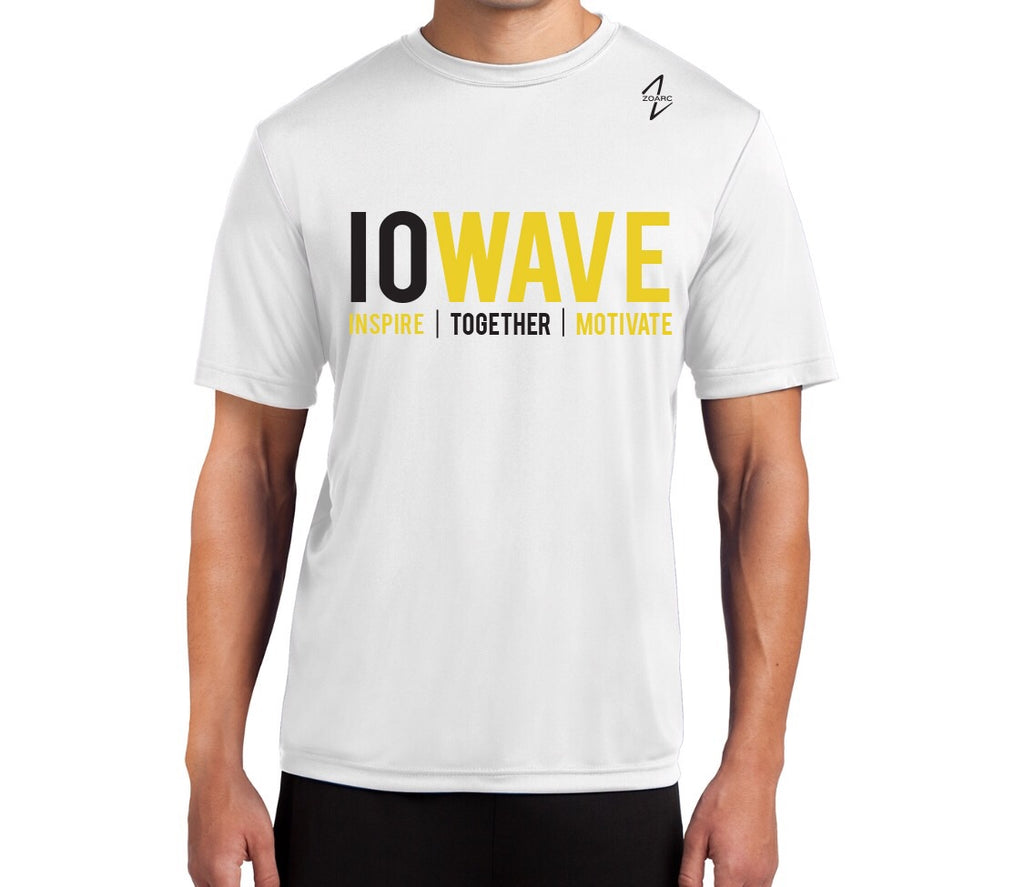IOWAVE Men's Short Sleeve Performance Tee-White