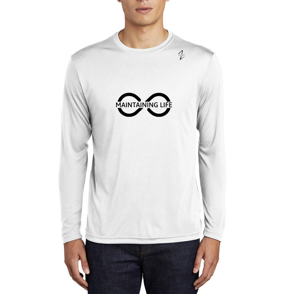 Maintaining Life Men's Long Sleeve Tee-White